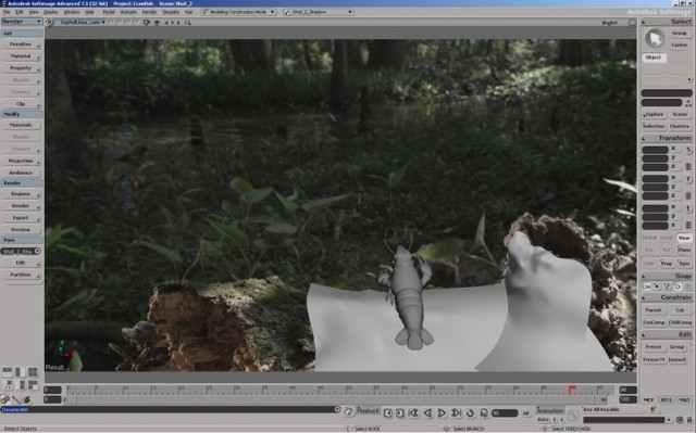 Animating a shot in Softimage