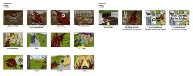 Crawfish storyboard