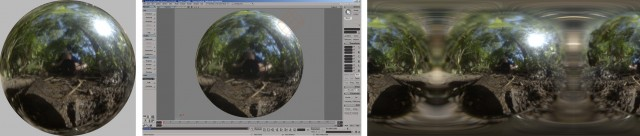 Converting LP image into spherical mapping format